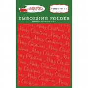 Embossing Folder - Carta Bella - Merry Christmas