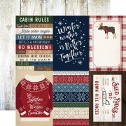 "Papper Carta Bella - Cabin Fever - 4""X6"" Journaling Cards"