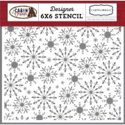 "Schablon - Carta Bella 6""x6"" - Frosted Snowflakes"