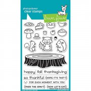 "Clear Stamps 4""X6"" - Lawn Fawn - Forest Feast"