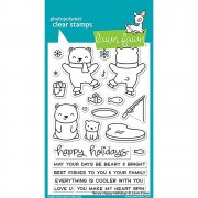 "Clear Stamps 4""X6"" - Lawn Fawn - Beary Happy Holidays"