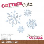 CottageCutz Elites Die - Snowflake Set