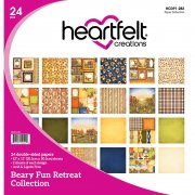 Paper Pad 12x12 - Heartfelt Creations - Beary Fun Retreat