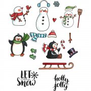 Mini CottageCutz Stamp & Die Set - Snow Fun