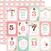 Papper Echo Park - Sweet Baby Girl - Month Cards