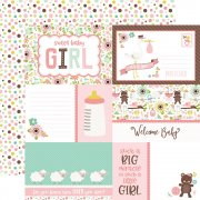 Papper Echo Park - Sweet Baby Girl - Journaling Cards