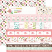 Papper Echo Park - Sweet Baby Girl - Border Strips