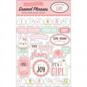 Sweet Baby Girl - Stickers Enamel Words - Echo Park