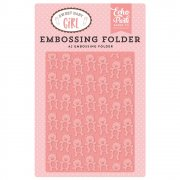 Embossing Folder A2 - Teddy Bear - Echo Park