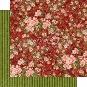 Papper Graphic45 - Floral Shoppe - Burgundy Blossoms