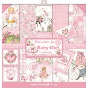 "Paper Pad 12""x12"" - Stamperia - Baby Girl"