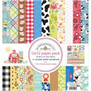Paper Pack 12x12 - Doodlebug - Down On The Farm