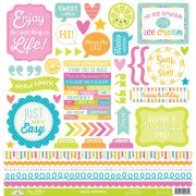 Cardstock stickers Doodlebug - Sweet Summer