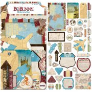 World Traveler - Die Cuts - Bo Bunny