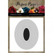 Paper Rose Dies - Stiched Ovals