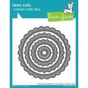 Dies Lawn Fawn Cuts - Stitched Scalloped Circle Frames