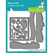 Dies Lawn Fawn Cuts - Shadow Box Card Ocean
