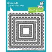 Dies Lawn Fawn Cuts - Stitched Scalloped Square Frames