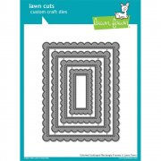 Dies Lawn Fawn Cuts - Stitched Scalloped Rectangle Frames