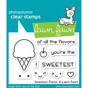 "Clear Stamps 3""X2"" - Lawn Fawn - Sweetest Flavor"