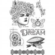 Clear Stamps - Graphic 45 - Imagine - Dream