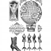 Clear Stamps - Graphic 45 - Imagine - Create Yourself