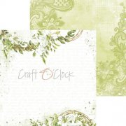 Papper Craft Clock - Greenery Charm 01
