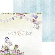 Papper Craft Clock - Spring Bustling 01