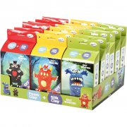 Funny Friends Kit - Coola Monster - För 18 personer - Silk Clay