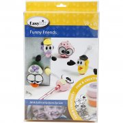DIY Funny Friends Modeller - Silk Clay Lera Set - 10 figurer