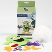DIY Funny Friends Textil - Grönt Monster Fuzzy