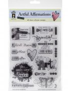 Utgår! Clearstamps Kit - Artful Affirmations - Hot Off the Press