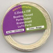 Smyckestråd - Beading Thread - Beige - 0,35 mm x 15 m