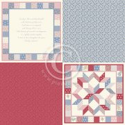 "Papper Pion Design - Patchwork of Life - Family Quilt 6""x6"""