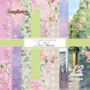 Paper Pad 12x12 - ScrapBerrys - In Bloom - 12 ark