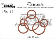Dies - Decorette - Interlocking circles - Crealies