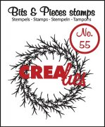 Clearstamp - Crealies - Bits & Pieces - no.55 - Wreath