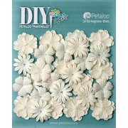Blommor Petaloo DIY - Mulberry Flower Mini Delphiniums - 28 st