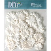 Blommor Petaloo DIY - Mulberry Flower Mini White - 48 st