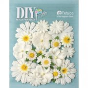 Blommor Petaloo DIY - Mulberry Flower Mix White & Yellow - 22 st