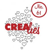 Clearstamp - Crealies - Bits & Pieces - no.61 - Open hearts