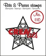 Clearstamp - Crealies - Bits & Pieces - no.110 - Star A