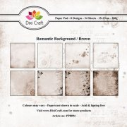 Dixi Craft Romantic Backgrounds Brown