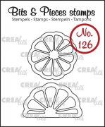 Clearstamp Crealies - Bits & Pieces - no.126 - Slice of citron + orange