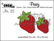 Dies - Partz - Strawberries - Crealies
