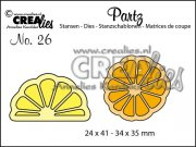 Dies - Partz - Slice of citron and orange - Crealies