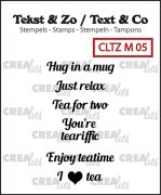 Clearstamp Crealies - Tiny text - no.5 - Tea B