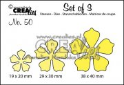 Dies - Set of 3 - Flowers 21 - Crealies