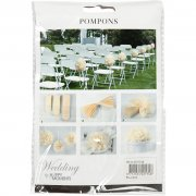 Pompom 3-pack Creme - Happy Moments