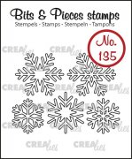 Clearstamp - Crealies - Bits & Pieces - no.135 - Snowflake outline
